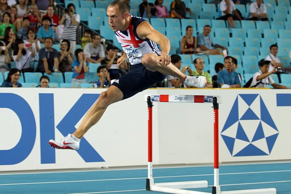 "David ""Dai"" Greene 400m hurdles Daegu 2011"