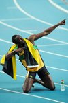 Usain Lightning Bolt 200m World Athletics 2011 Prints