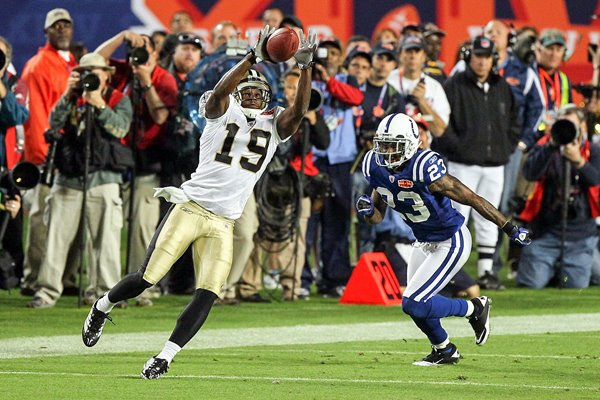 Devery Henderson Catch Super Bowl XLIV