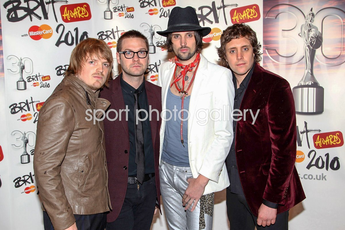 Kasabian arrive at The Brit Awards 2010