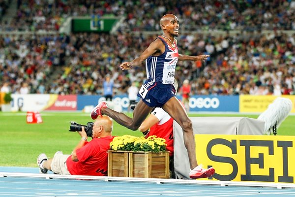 Mo Farah Great Britain wins Gold 5000m