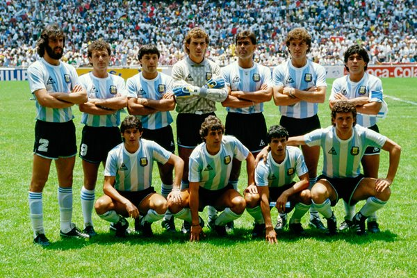 Argentina team line up for World Cup Final 1986