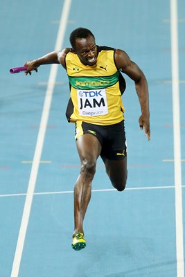 Usain Bolt 100m Relay World Athletics 2011