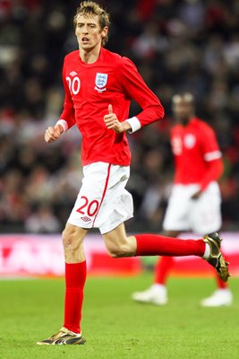 Peter Crouch 2010 England action v Egypt