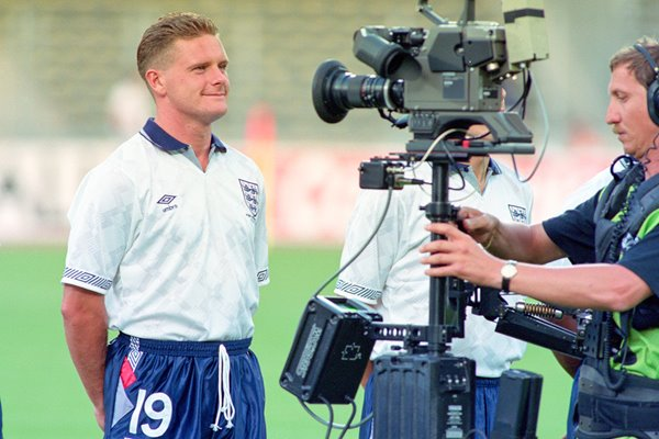 Paul Gascoigne funny face for TV 1990