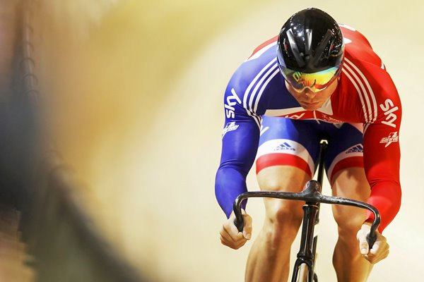 Sir Chris Hoy Classic Action Portrait 2010