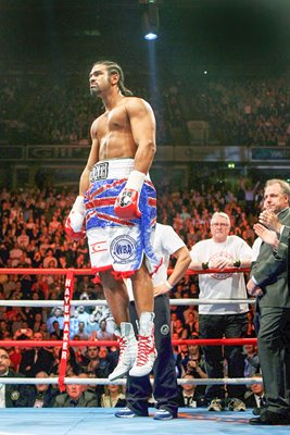 David Haye warms up v John Ruiz