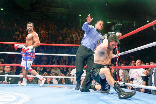 David Haye knocks down John Ruiz 2010