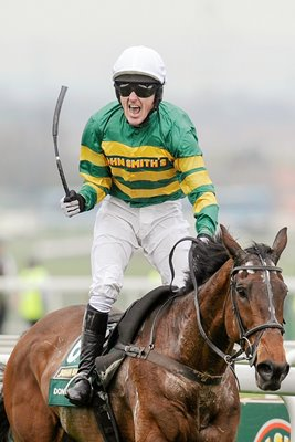 Tony McCoy celebrates Grand National win 2010