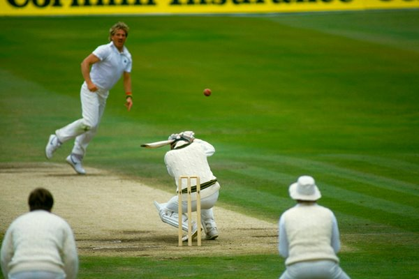 Wayne Phillips ducks Ian Botham bouncer
