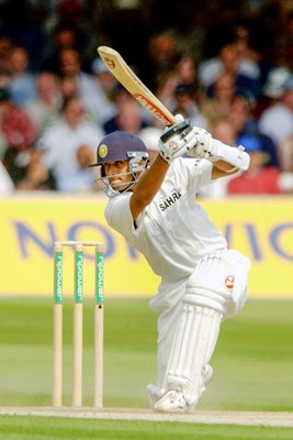 Rahul Dravid in action