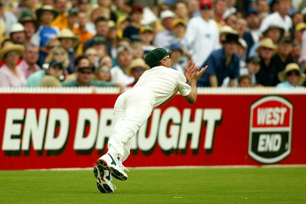Glenn McGrath takes a catch