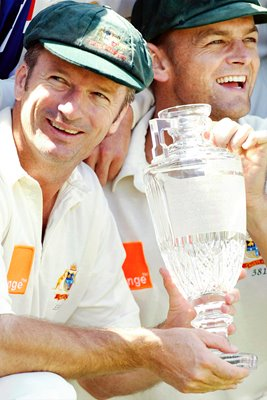 Steve Waugh of Australia celebrates