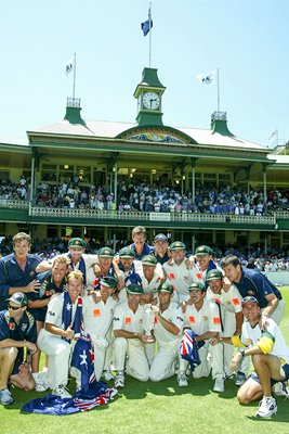 The Australian team 2002 Ashes
