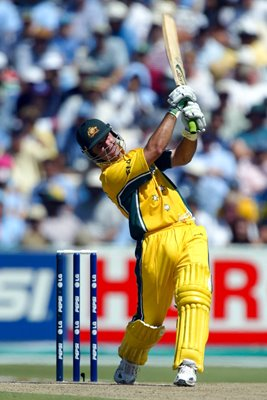 Ricky Ponting World Cup Final action