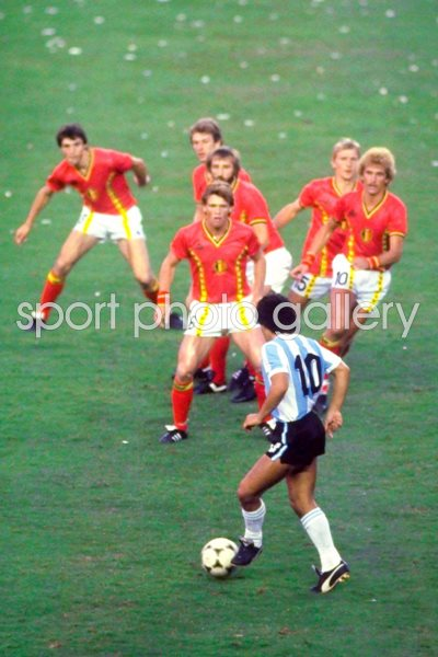 World Cup 1982 Print Football Posters Maradona