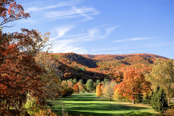 Old White Course Greenbrier Resort 1st hole