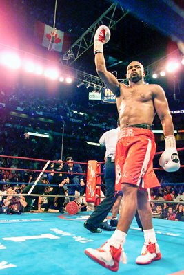 Roy Jones Jr. celebrates
