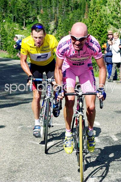Marco Pantani Leads Armstrong