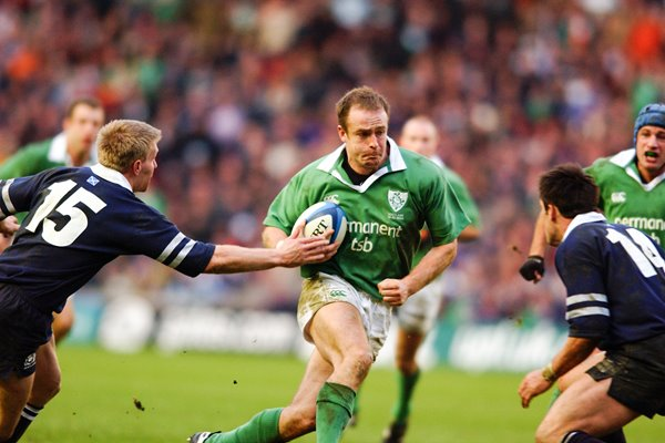 Denis Hickie of Ireland