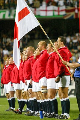 England sing the National Anthem