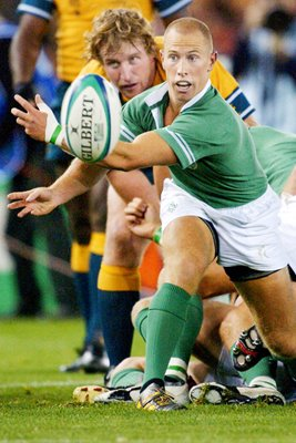 Peter Stringer #9 for Ireland in action