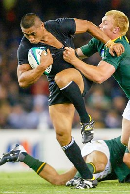 Jerry Collins of New Zealand in action