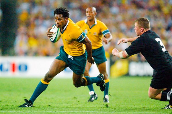 Lote Tuqiri of the Wallabies in action