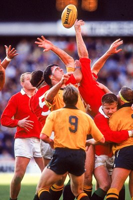 British Lions v Australia Line Out Final test Sydney 1989