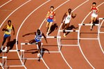 Ed Moses World Champion 400m hurdles 1987 Prints