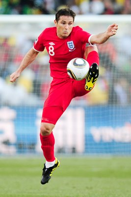 Frank Lampard in action for England v Germany