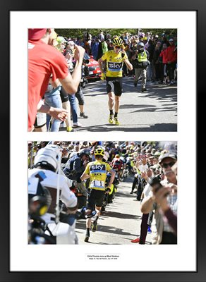 Chris Froome runs up Mont Ventoux Special