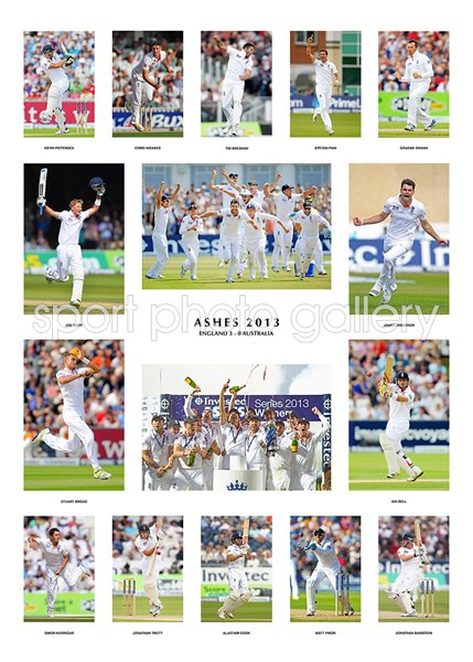 2013 England Ashes Winners Team Special