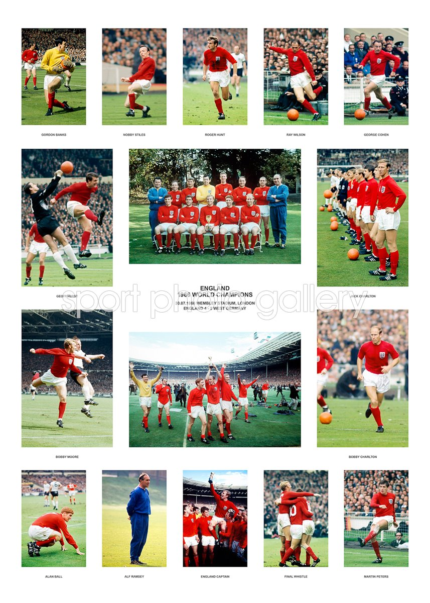 World Cup 1966 Print | Football Posters | Bobby Moore