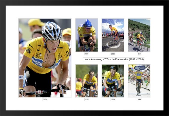 1999 - 2005 Lance Armstrong 7 Tour Wins Selection