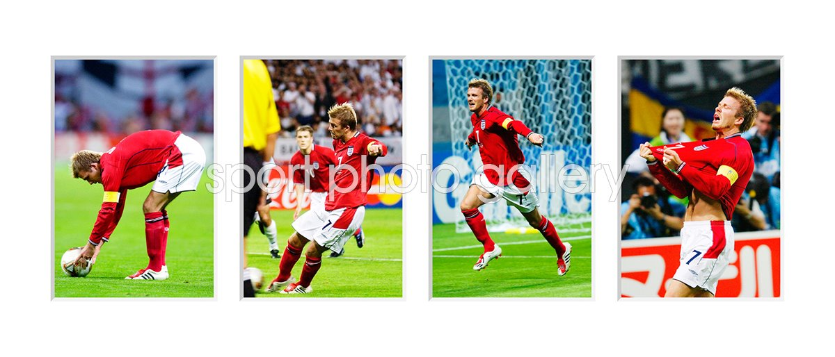 2002 David Beckham Penalty v Argentina Quadruple