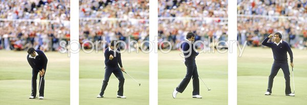 1984 Seve Ballesteros Winning Putt Quadruple