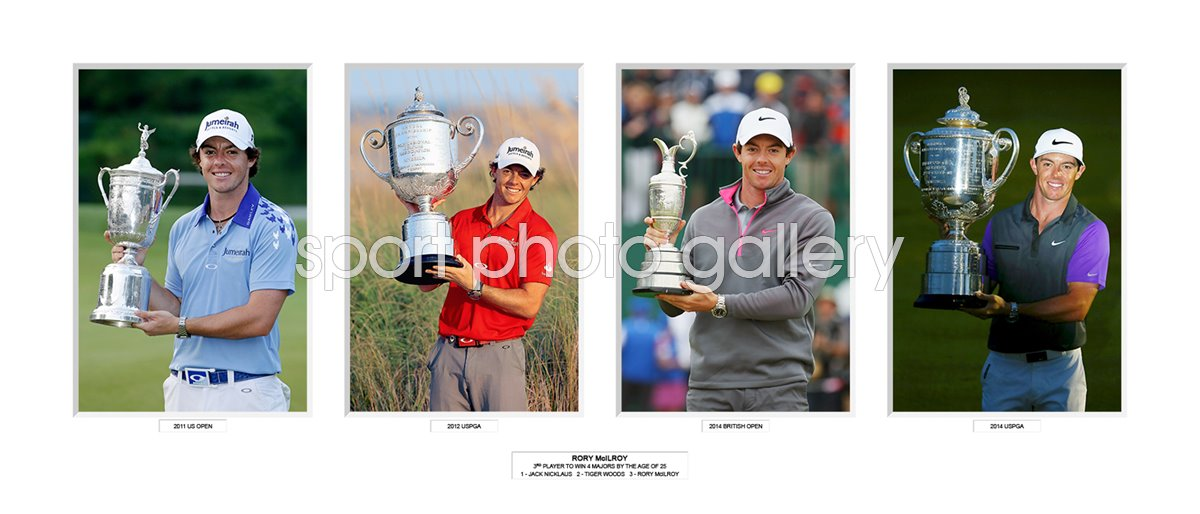 2014 RORY MCILROY 4 MAJOR TITLES BY 25 SPECIAL