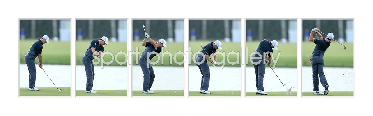 New Rory McIlroy 6 Stage Swing Sequence 2015