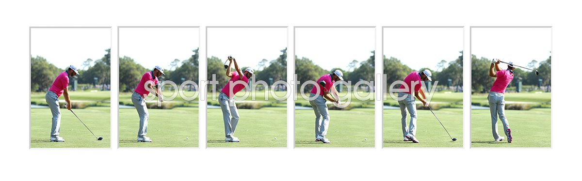 2016 Dustin Johnson USA 6 Stage Driver Swing Sequence