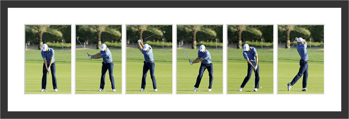 Jordan Spieth Six Stage Swing Sequence Front View