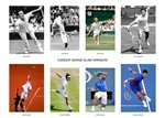 Tennis Career Grand Slam Winners Prints