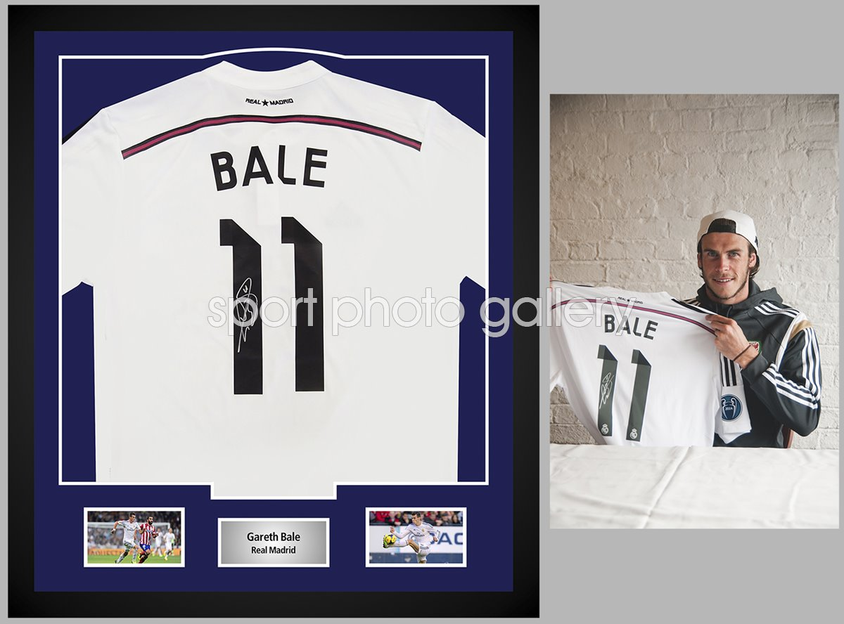 Gareth Bale Signed Shirt Presentation WAS £595 Now £495