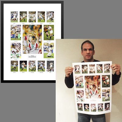2003 Martin Johnson Signed World Cup Team Special - Was £295 Now £195