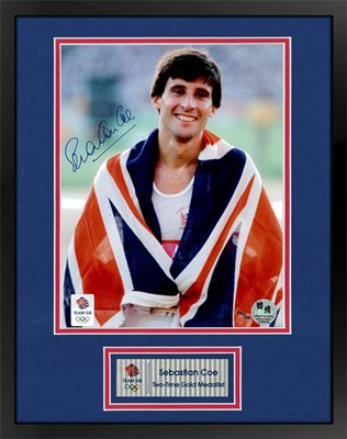 Signed Sebastian Coe Olympic Champion print - WAS £149.95 NOW £124.95