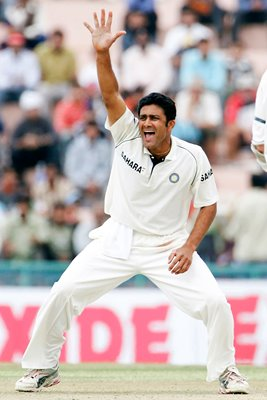 Anil Kumble of India appeals