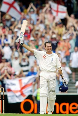 Michael Vaughan celebrates MCG century