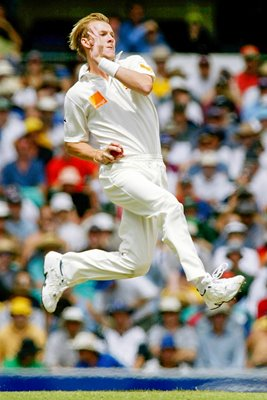 Brett Lee in action