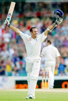 Michael Vaughan celebrates SCG century