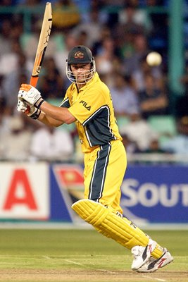 Adam Gilchrist of Australia on his way to 67